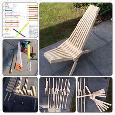 (NL) De basis idee van deze stoel komt uit het bos bij gebouw KKN6 in Arnhem.Met de technische tekening uit stap1 en het nodige materiaal / gereedschap.Is de stoel...