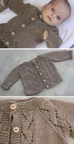 Baby Cardigan Knitting Pattern Free, Baby Boy Knitting Patterns, Knitted Baby Cardigan, Knit Baby Sweaters, Arm Knitting, Knitting For Kids, Baby Patterns, Knitting Projects, Sewing Patterns