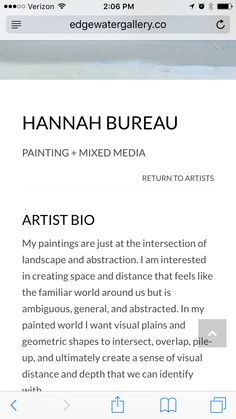 artist statement example