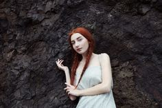 redhead girl, lava photography