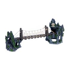 Penn Plax Troll Bridge Aquarium Ornament - 20L x 5W x 8H in. - RRB13