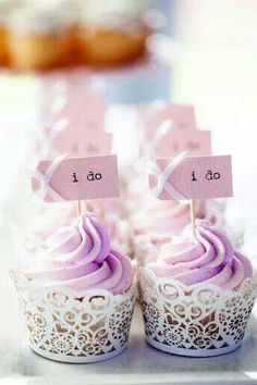 Lavender cup cakes!