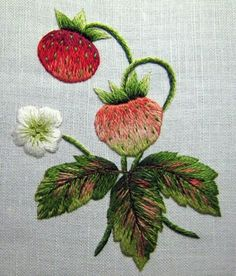 Wonderful Ribbon Embroidery Flowers by Hand Ideas. Enchanting Ribbon Embroidery Flowers by Hand Ideas. Hand Embroidery Stitches, Silk Ribbon Embroidery, Crewel Embroidery, Hand Embroidery Designs, Vintage Embroidery, Embroidery Techniques, Cross Stitch Embroidery, Machine Embroidery, Cross Stitches