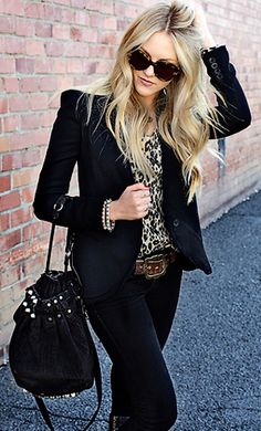 black + leopard.
