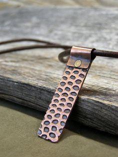 Mens Necklace  Snake Skin Pendant  Copper by StoneWearDesigns, $48.00