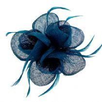 teal & navy fascinator...I do want one, but it has to be small.