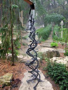 rain/ice vine sculpture - by Mark Puigmarti