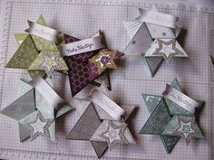 Stampin mit Scraproomboom: Sternenkarte Anleitung - Star fold card