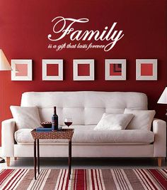 Items Similar To Family Is A Gift That Lasts Forever Vinyl Wall Quote Decal On Etsy
