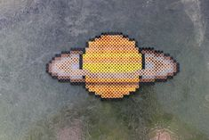 Saturn Perler Planet by ZombieLolitaPrincess