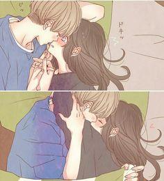 (✿ ✿。 ✿ ✿) - Anime hug - - ♡ o 。. Couple Amour Anime, Couple Anime Manga, Romantic Anime Couples, Anime Couples Drawings, Anime Love Couple, Anime Couples Manga, Manga Anime, Anime Girls, Anime Couples Cuddling