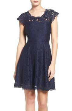 BB Dakota Lace Fit & Flare Dress available at #Nordstrom
