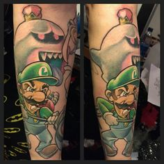 New ink #Luigi #KingBoo