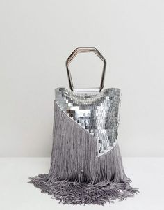 Buy ASOS DESIGN sequin fringe grab clutch bag at ASOS. With free delivery and return options (Ts&Cs apply), online shopping has never been so easy. Get the latest trends with ASOS now. Diy Clutch, Clutch Bag, Best Leather Wallet, Leather Totes, Recycle Old Clothes, Asos Boots, Unique Purses, Womens Purses, Handbags On Sale