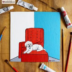 """Over Labor Day weekend I did a labor of love! I got out of my comfort of colored pencils and painted this pet portrait for a dear friend! Granted it's no Van Gogh, but it was in fact him who said """"If you hear a voice within you say 'you cannot paint,' then by all means paint, and that voice will be silenced."""" I'm glad I ignored the doubting voices in my head & took the time to create! #art #painting #dog #puppy #portrait #dogportrait #terrier #terriermix"""