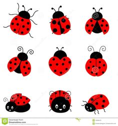 SALE TODAY Ladybug Decals Set of 6 Ladybug Wall Stickers for Kids and Baby Room Decor (SKU is part of Sale Today Ladybug Decals Set Of Ladybug Wall Stickers - MyWallStickersStephanie & MichaelMy Wonderful WallsMyWallStickers on Etsy Lady Bug Tattoo, Ladybird Drawing, Lady Bug Drawing, Ladybird Tattoo, Hamsa Tattoo, Mothers Day Crafts For Kids, Baby Room Decor, Painted Rocks, Wall Stickers