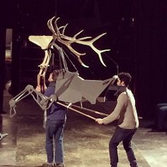 Fri, - This new stag puppets is designed to be ridden by an actor!