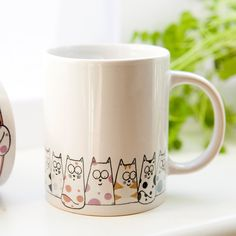 Cat mug - Cuppa Cats coffee mug, tea mug. £8.50, via Etsy.
