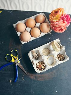 Jeweled Easter eggs-- looks like something i could let the kids glue... pin now read later