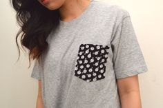 Turn a Plain Jane Tee into a Super-Stylish Shirt with One Simple Secret   eHow Style featuring Kirsten Nunez of Studs & Pearls