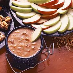 This fruit dip is rich and creamy, an indulgent way to dress up fruit with caramel.
