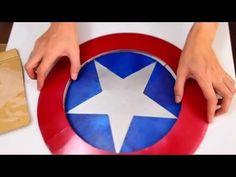 #44: Captain America's Shield DIY 2/2 - Hot Glue + 'Cardboard' (PDF template) | How To | Dali DIY - YouTube