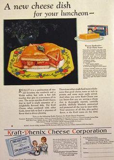 1929 Kraft American Cheese Ad ~ Tomato Sandwich Recipe