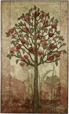 Piia Lehti: Ruusupuu / Rose Tree, 2009 Tree Of Life Art, Tree Art, Rose Trees, Forest Art, Illustration Art, Illustrations, Finland, Printmaking, Folk Art