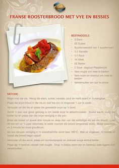 How To Read A Recipe, South African Recipes, Food Print, Good Food, Easy Meals, Food And Drink, Sweets, Afrikaans, Breakfast Ideas