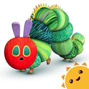 """My Very Hungry Caterpillar by StoryToys Entertainment Limited ** The story of the Very Hungry Caterpillar gets a game!  Rather than following the storybook, this caterpillar needs help enjoying freshly picked fruit, watering the garden, playing with toys, and enjoying the great outdoors.  The open-ended play is quiet and soothing.  For kids with the patience to explore, the challenge of finding out to make the """"days"""" go by yields the beauty of our transformed friend."""