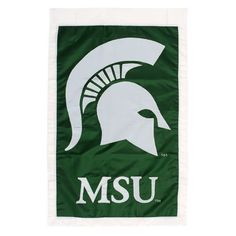 Michigan State University Spartans Flag - Regular Size by Fans With Pride. Save 54 Off!. $21.95. Our applique flags are hand-crafted from soft, high-quality nylon fabric. The Michigan State University Spartans logo is faithfully represented in fade-resistant colors with tight detailed stitching. The 2-sided front and the back of this durable flag are identical, so both sides clearly reveal your pride. A certified collegiate-licensed product. Flag pole and other accessories are no...