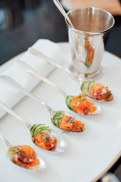 Havens Kitchen / Canapes / Cured Salmon / Photography by Sandy Soohoo Studio / Food Photography / New York City Catering / NYC Venue / Wedding Styling Inspiration / The LANE