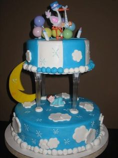 Baby Shower Cakes for a Boy | Baby Boy Sleeping — 2009 Baby Shower Cakes Contest