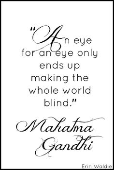 Quote Of The Day- Ghandi