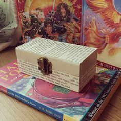 Harry Potter Decoupage Trinket Box- Harry Potter Box- The Deathly Hallows- Ring Box  £9.50