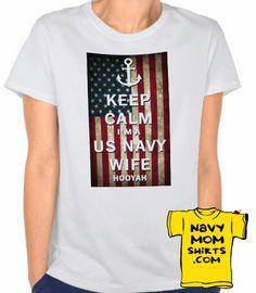 Navy Wife Keep Calm Grunge Flag Shirts & Hoodies! Lots of Colors & Styles - NavyMomShirts.com #NavyWife