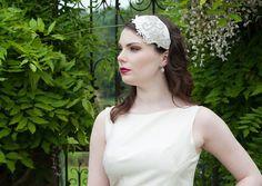 Alexander hairpiece & birdcage veil set by Lily Bella | Lily Bella