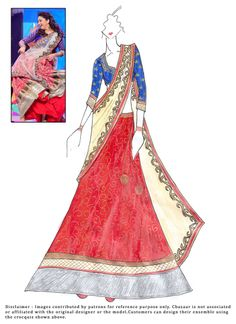 #DIY #MadhuriDixit #Red #Brocade #Lehenga Choli