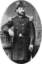 Teniente Coronel Juan Pablo Bustamante.  En 1865 ingresa al ejército como Subteniente y más tarde ascendió a Sargento Mayor de Guardias Nacionales. Segundo Comandante del Regimiento Cívico Aconcagua. Participó en Chorrillos y Miraflores. Asciende a Sargento Mayor Graduado, es nombrado Comandante del Batallón Cívico San Felipe.