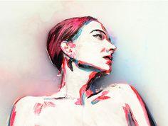 Artist Uses Milk & Human Body As Canvas (NSFW)
