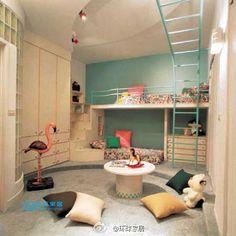Super cool kids room~gymnastics/monkey bars