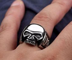 af5cbf5b88a0 Shop bikers skull rings online shop today in United States  Harley Davidson  men   women stainless steel