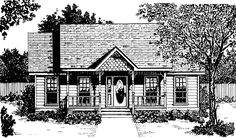 Eplans Victorian House Plan - Quaint Victorian Cottage - 1036 Square Feet and 2 Bedrooms(s) from Eplans - House Plan Code HWEPL01644
