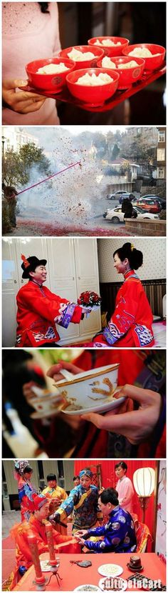 What's your wedding day lineup look like? Here, we give you the basics behind ancient wedding day customs, from bridesmaid games to the wedding banquet.  http://www.cultureincart.com/story/chinese-wedding-customs-ancient-wedding-day-traditions.html