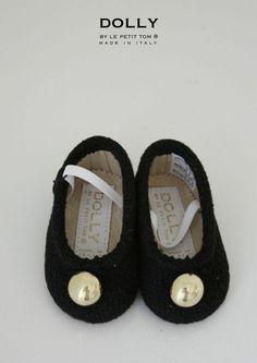 LA DOLLY by Le Petit Tom ® LITTLE BLACK BALLERINA'S black tweed
