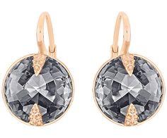 Globe Pierced Earrings, Gray
