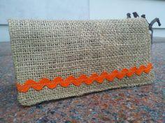 Handmade Burlap Checkbook Cover by Joanna1966 on Etsy,