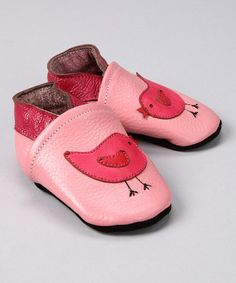Take a look at this Pink Bird Booties - Infant by Augusta Baby on #zulily today!