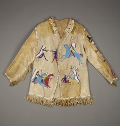 Collection information about Man's Coat; Native American Clothing, Native American Design, Native American Artifacts, Native American Beading, Native American Indians, Native Americans, Male Clothing, Mountain Man Clothing, Beaded Jacket