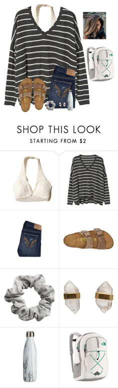 I guess I need to get all of my winter drafts out by raquate1232 on Polyvore featuring MANGO, Hollister Co., Birkenstock, The North Face, Better Late Than Never and H&M